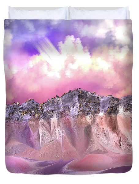 The Painted Sand Rocks Duvet Cover
