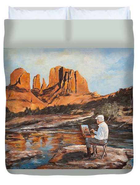 The Painter Woods Duvet Cover