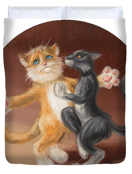 The Painting About Love  Duvet Cover