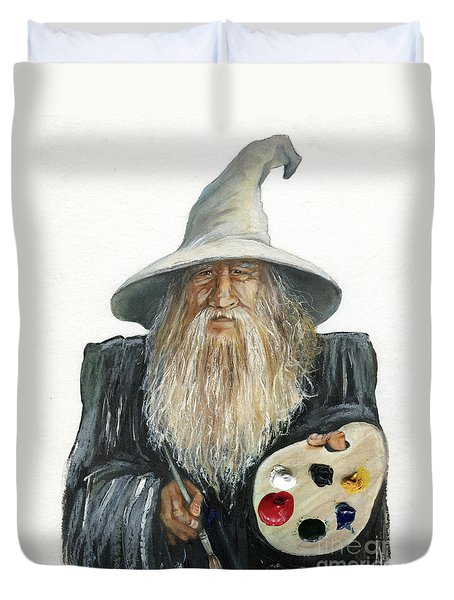 The Painting Wizard Duvet Cover
