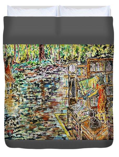 The Paintress Duvet Cover