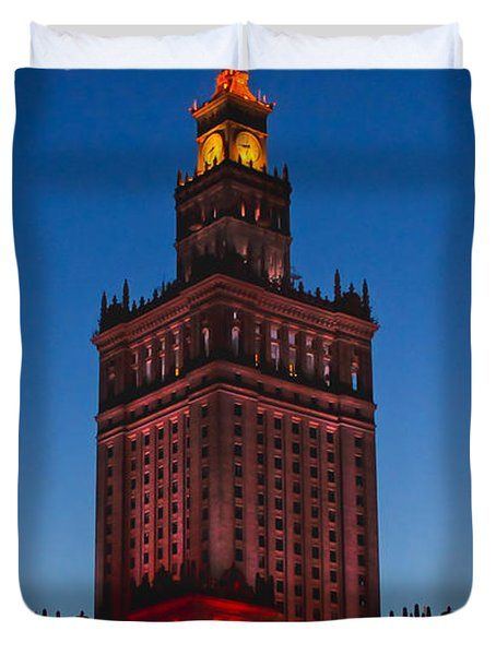 The Palace Of Culture And Science  Duvet Cover