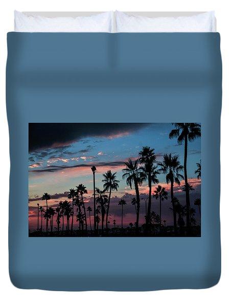 The Palms Duvet Cover by Ralph Vazquez