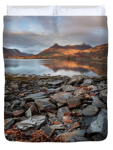 The Pap Of Glencoe, Loch Leven, Panorama Duvet Cover