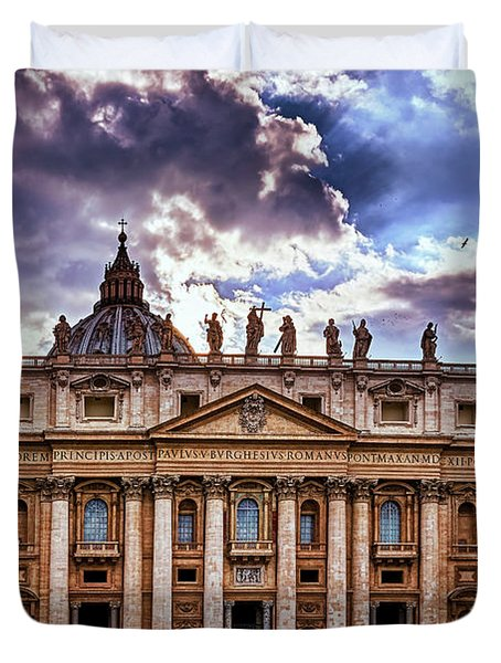 The Papal Basilica Of Saint Peter Duvet Cover
