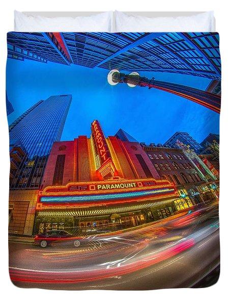 The Paramount Boston Ma Duvet Cover