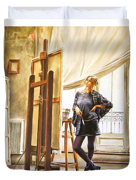 The Paris Studio Duvet Cover by Andy Lloyd