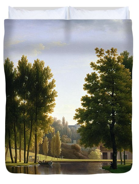 The Park At Mortefontaine Duvet Cover by Jean Bidauld