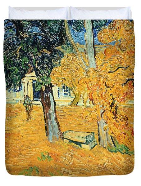 The Park At Saint Pauls Hospital Saint Remy Duvet Cover by Vincent van Gogh