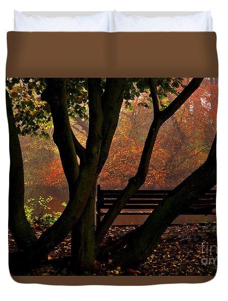 The Park Bench Duvet Cover