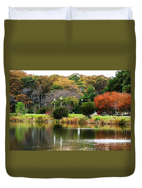 The Park Duvet Cover by Judy Wolinsky