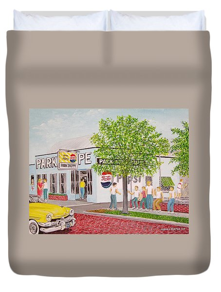 The Park Shoppe Portsmouth Ohio Duvet Cover by Frank Hunter