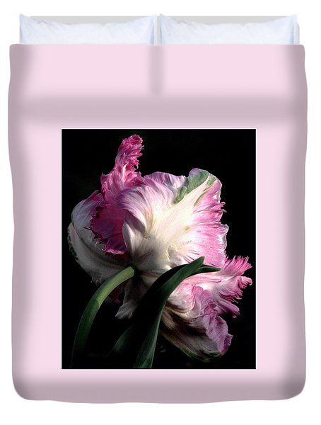 The Parrot Tulip Queen Of Spring Duvet Cover