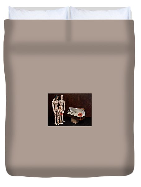 Duvet Cover featuring the photograph The Passing Of Grandpa Woody by Mark Fuller