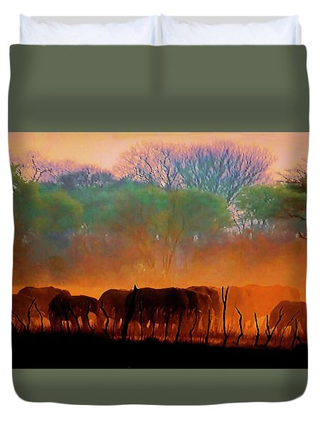The Passing Parade Duvet Cover