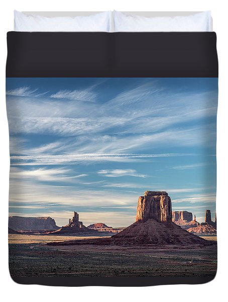 Duvet Cover featuring the photograph The Past by Jon Glaser