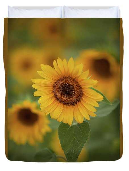 The Patch Of Sunflowers Duvet Cover