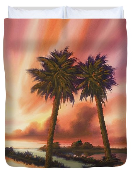 The Path Ahead Duvet Cover by James Christopher Hill