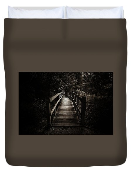 The Path Between Darkness And Light Duvet Cover