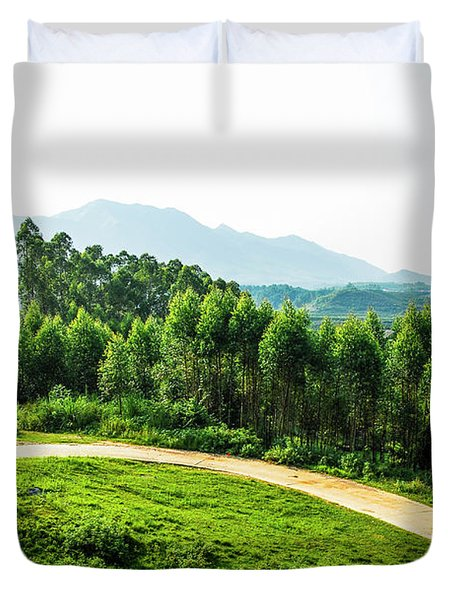 The Path In The Mountain Duvet Cover