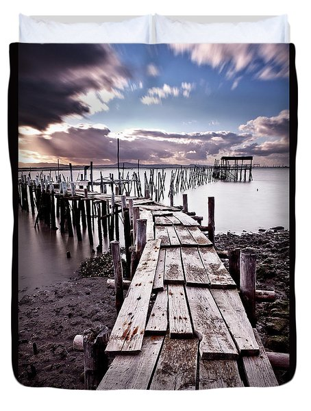 The Path Duvet Cover by Jorge Maia