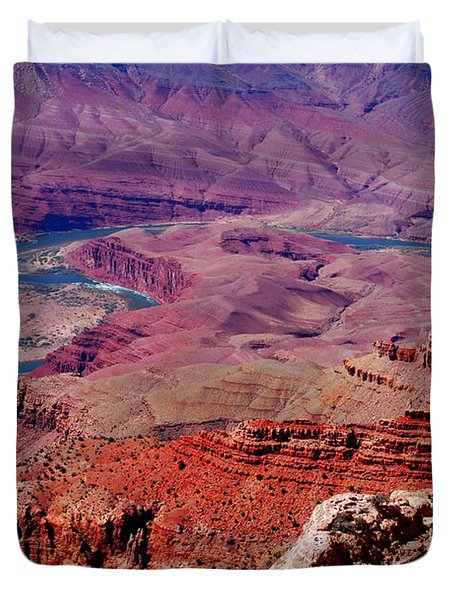 The Path Of The Colorado River Duvet Cover by Susanne Van Hulst