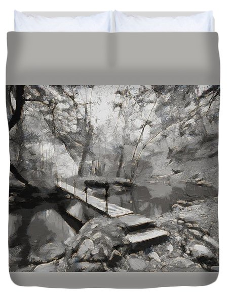 The Path To Nirvana Duvet Cover by Mario Carini