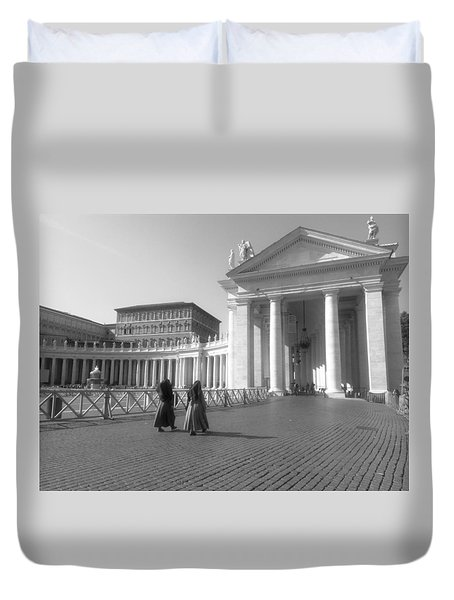 The Path To Temple Duvet Cover