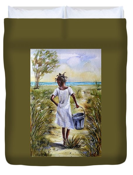 The Path To The Sea Duvet Cover