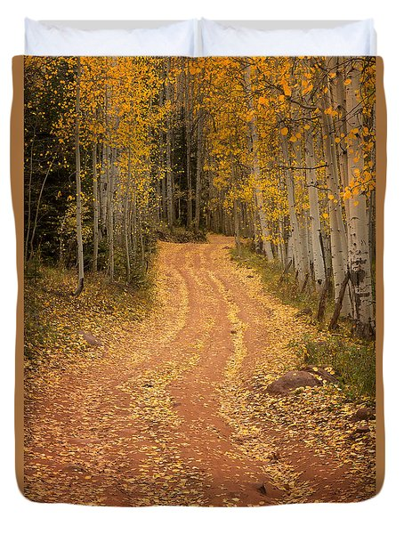 The Pathway To Fall Duvet Cover