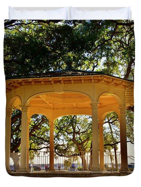 The Pavilion At Battery Park Charleston Sc  Duvet Cover