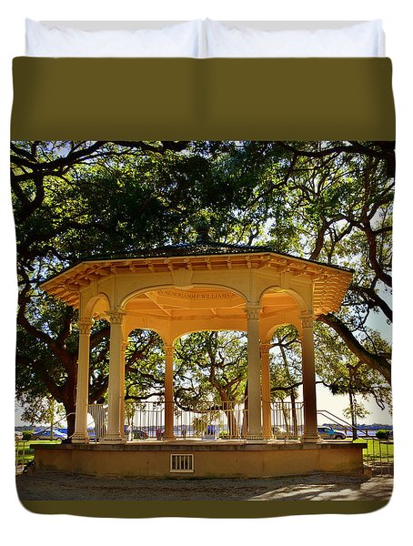The Pavilion At Battery Park Charleston Sc  Duvet Cover