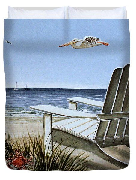 The Pelican Duvet Cover