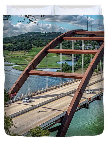 The Pennybacker Bridge Duvet Cover
