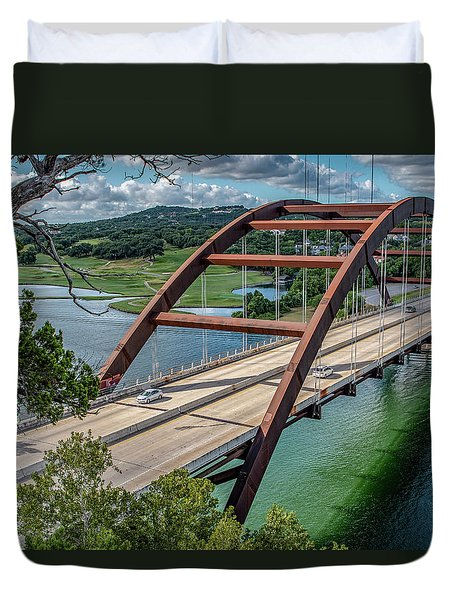 The Pennybacker Bridge Duvet Cover