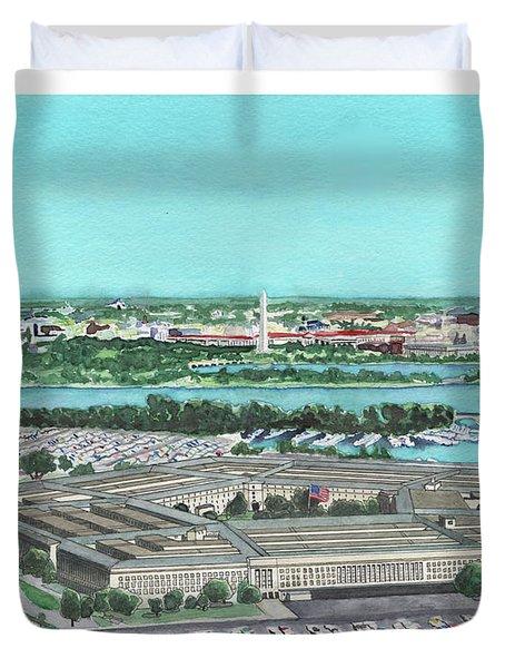 The Pentagon Duvet Cover