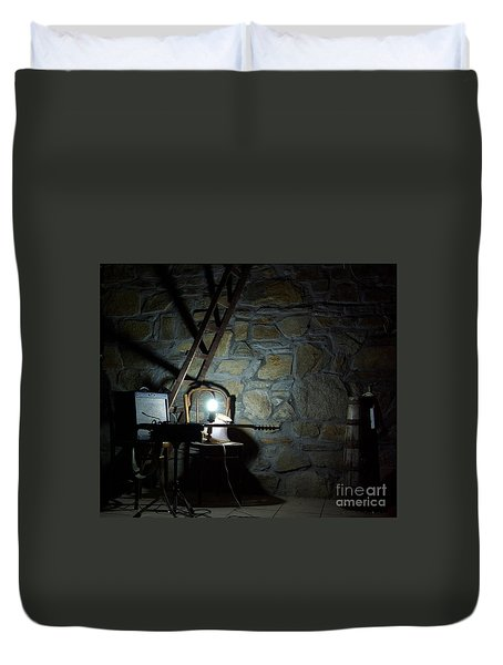 The Perfect Place For Music Duvet Cover by AmaS Art