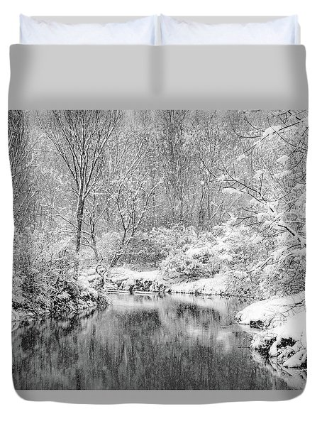 Duvet Cover featuring the photograph A Perfect Storm by Kendall McKernon