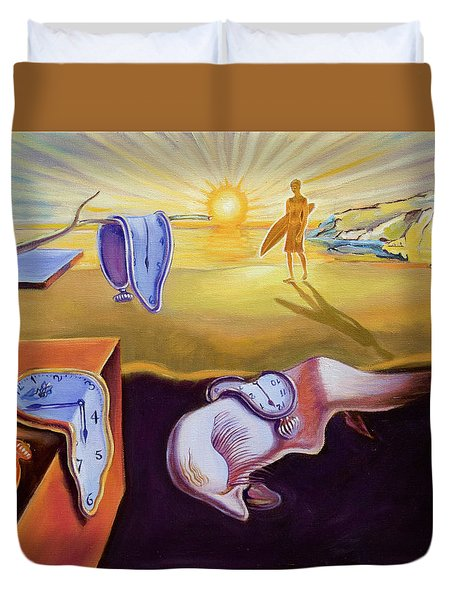 The Persistence Of Memory-amadeus Series  Duvet Cover by Dominique Amendola
