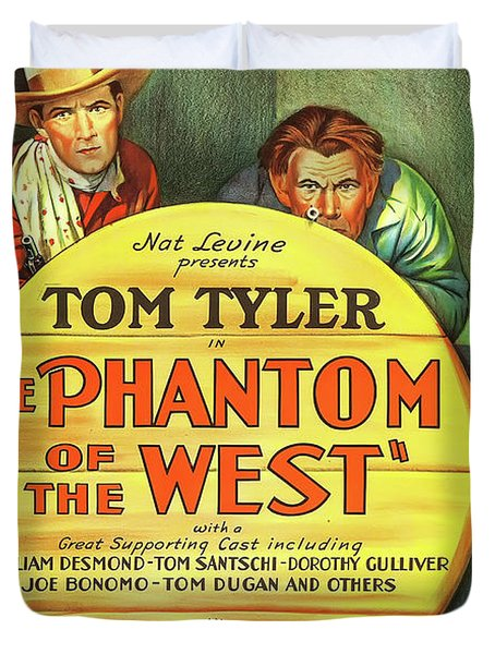 The Phantom Of The West 1931 Duvet Cover by Mountain Dreams