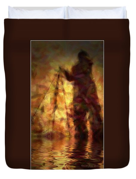 The Photographer In Water Duvet Cover by Joyce Dickens