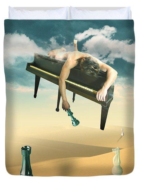 The Pianist  Duvet Cover by Mark Ashkenazi