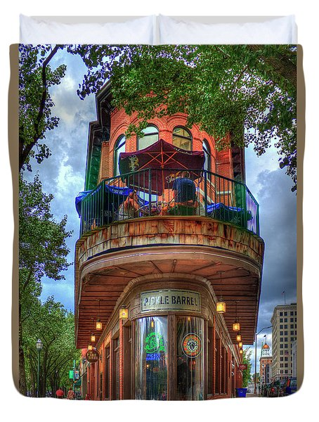 The Pickle Barrel Chattanooga Tn Duvet Cover by Reid Callaway