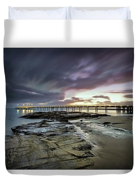 The Pier @ Lorne Duvet Cover