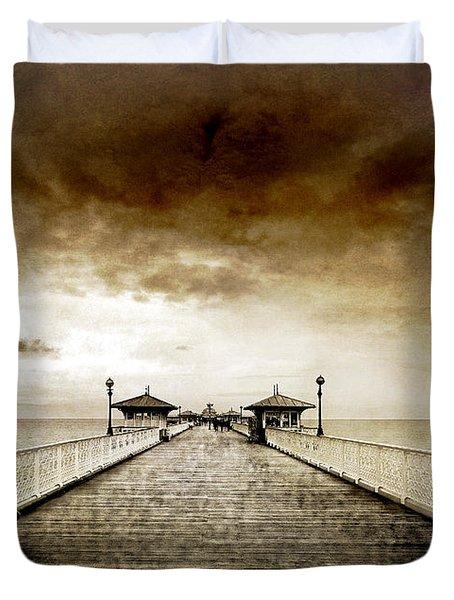 the pier at Llandudno Duvet Cover