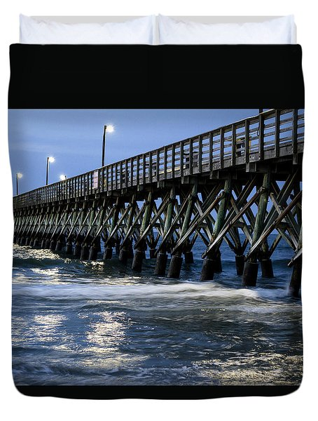 The Pier At The Break Of Dawn Duvet Cover