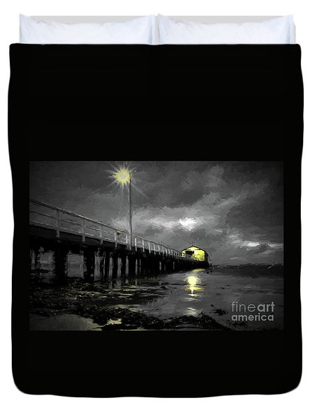 The Pier On The Bay Duvet Cover