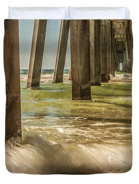 The Pier Duvet Cover by Phillip Burrow