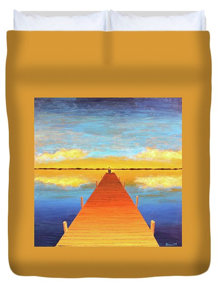 The Pier Duvet Cover by Thomas Blood