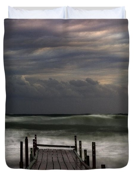 The Pier...ayia Napa Duvet Cover by Stelios Kleanthous